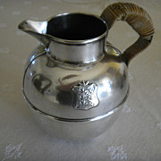 British-Occupied India Sterling Jug- early 1900s