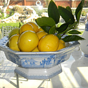 "English Transferware Fruit Bowl ""Montilla"" Blue & White"