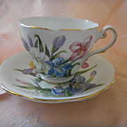 "English Bone China Teacup & Saucer Set ""Winsome"""