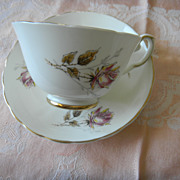 "English China ""Rose"" Teacup & Saucer Set"