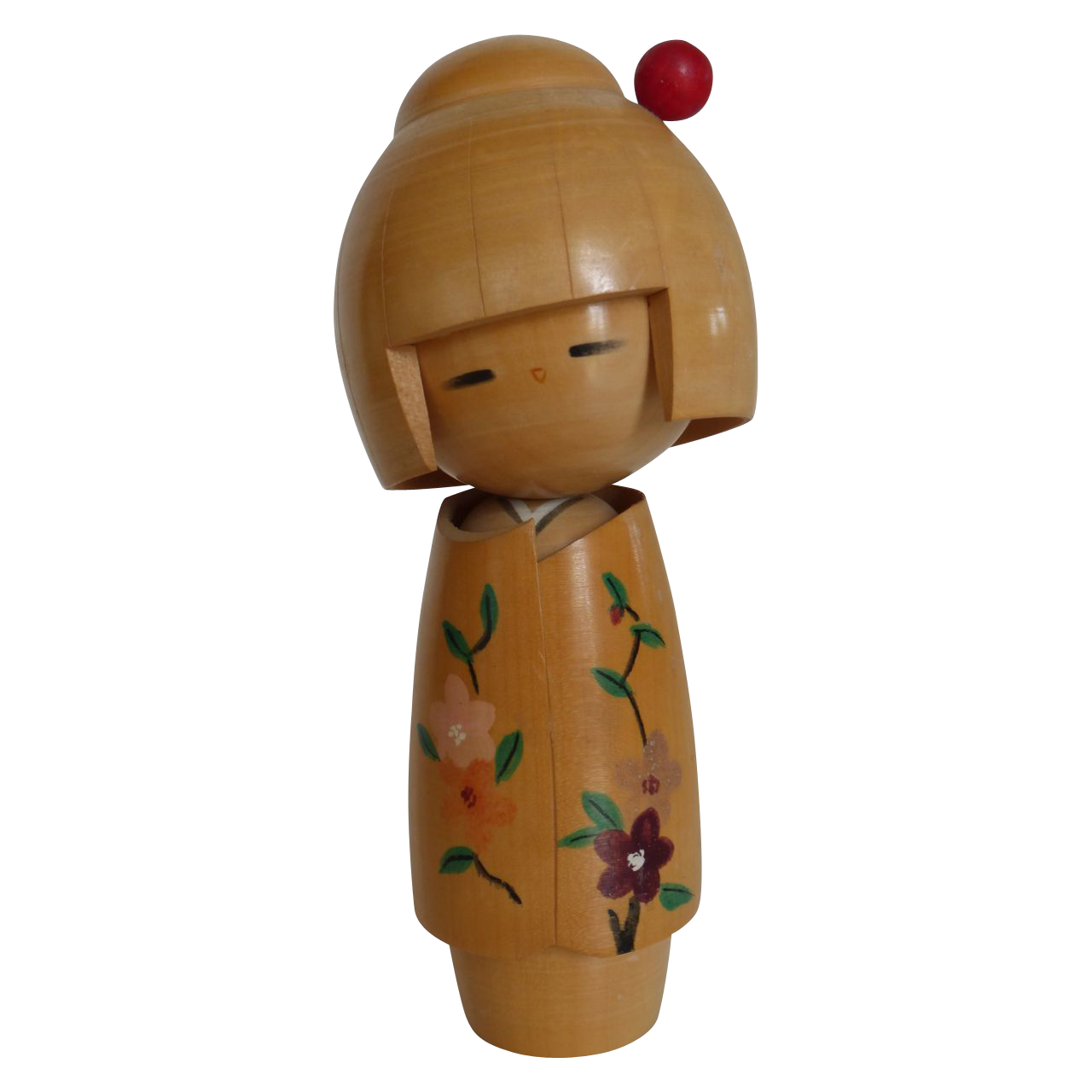 Vintage Japanese Dento Kokeshi Doll Artist Signed From