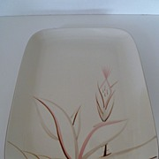 Winfield Dragon Flower Large Rectangular Platter Mid-Century Calif. Pottery