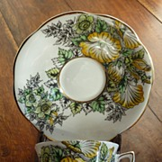 Vintage Rosina Bone China Cup Saucer MINT
