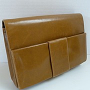 Vintage RODO Leather Handbag Clutch Made in Italy