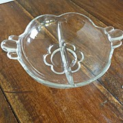 "Duncan and Miller ""Canterbury"" Divided Relish Dish"