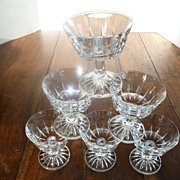 Elegant Heavy Crystal Cocktail or Sherbets Set of Six