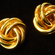 Vintage Norma Jean NJ Knot Earrings