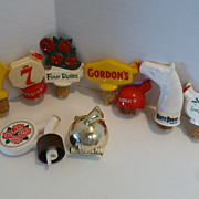 Vintage Liquor Bottle Pour Spouts - Lot of 9