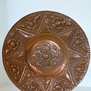 Antique Hand Forged Copper Plate