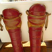 Vintage 1940�s Rawlings Baseball Shin Guards