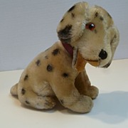 Vintage Mohair Dalmation Puppy Dog