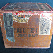 Cigar Box Julian Romero y CA