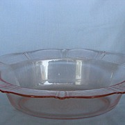 Depression Glass Pink American Sweetheart Oval Vegetable Bowl