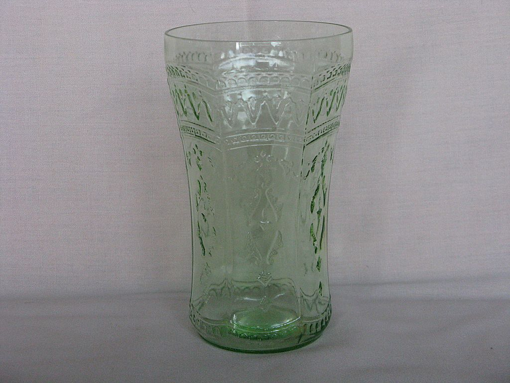 "Depression Glass Green Patrician ""Spoke"" Tumbler"