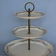 Hall China Wildfire Three-Tier Tidbit Tray