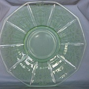 Cambridge Glass Green Cleo Cheese & Cracker Liner Plate
