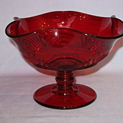 Paden City Glass Ruby Largo Comport
