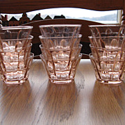 Pink Glass Custard Cups