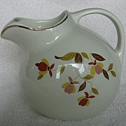 Hall China Autumn Leaf  Ball Jug
