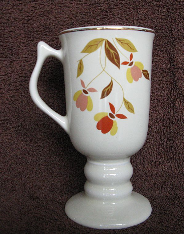 Hall China Autumn Leaf Irish Coffee Mug