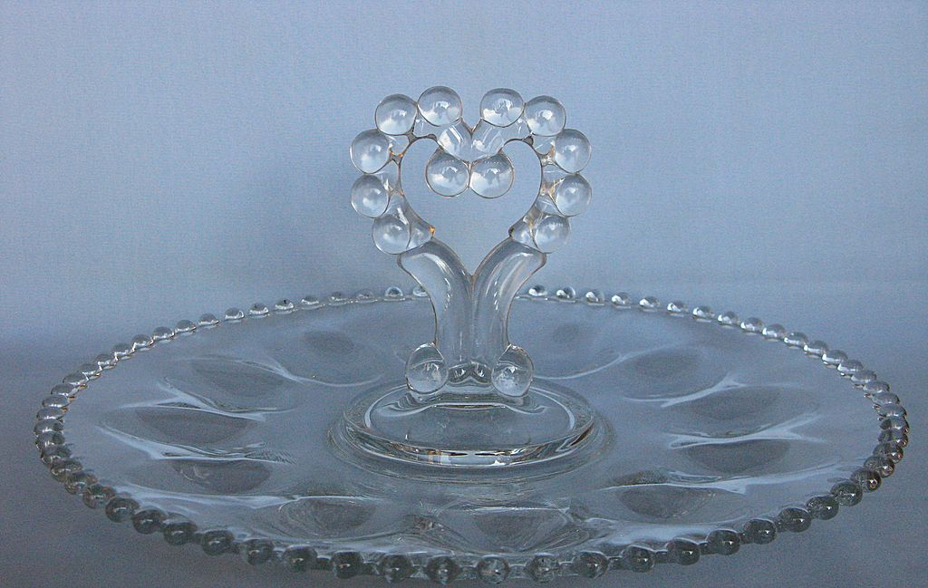 Imperial Glass Candlewick Deviled Egg Server