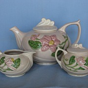 Hull Pottery New Magnolia Tea Set
