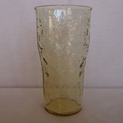 Depression Glass Amber Madrid 12 oz Tumbler
