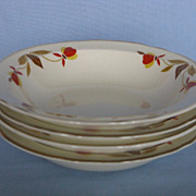 Hall China Autumn Leaf  Fruit Bowls - Set Of  Four