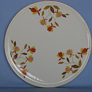 Hall China Autumn Leaf  Cake Plate