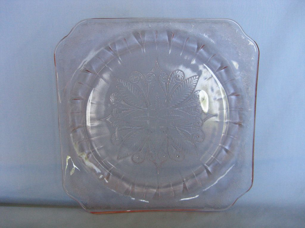 Depression Glass Pink Adam Dinner Plate