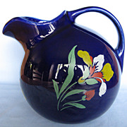 Hall China Blue Blossom Ball Jug, #3