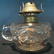 Early 1900's Peanut Finger  Oil Lamp