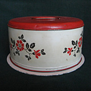 Hall China Red Poppy Metal Cake Safe