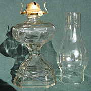 Square And Paneled Oil Lamp