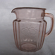 Mayfair Open Rose Pink Juice Pitcher