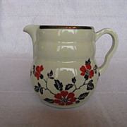Hall China Red Poppy Daniel Syrup or Milk Pitcher