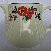 Hall China Red Poppy &quot;Radiance&quot; Jug #5 or Pitcher