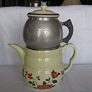 Hall China Red Poppy Daniel Coffee Pot