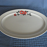 Hall China Red Poppy Platter, 13-1/4