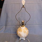 Aladdin Alacite #257 Electric Table Lamp With Scroll (Bouquet) Finial