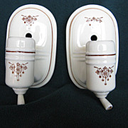 Porcelier/De-Luxe Pattern Wall Sconces