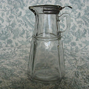 Hazel Atlas Crystal Syrup Pitcher