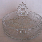 Viking Glass Prelude Three Part Lidded Candy Dish