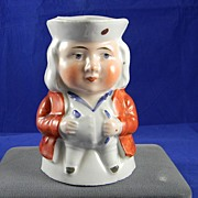 Wonderful Porcelain Seated Toby...Hand painted