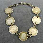 Splendid British  GeorgeV  Three Pence Coin Bracelet