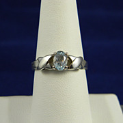 SALE Charming Blue Topaz Sterling Ring