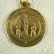 Religious Medal Of Calvary  Jerusalem