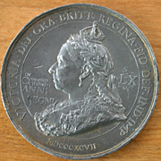Diamond Jubilee LARGE Medal Queen Victoria 1897 British Empire-