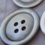 36 Vintage Mother of Pearl mop 1 &quot; buttons-grey/black-smoke