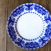 Antique flow blue plate OSBORNE